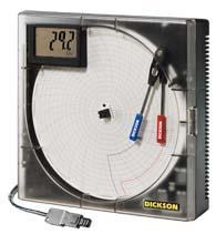 8″温度, 湿度&露点图表记录仪