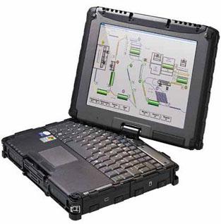 V100-Ex-ATEX认证全强固式可旋转笔记本电脑