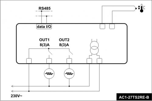 ssr输出温控器接线图