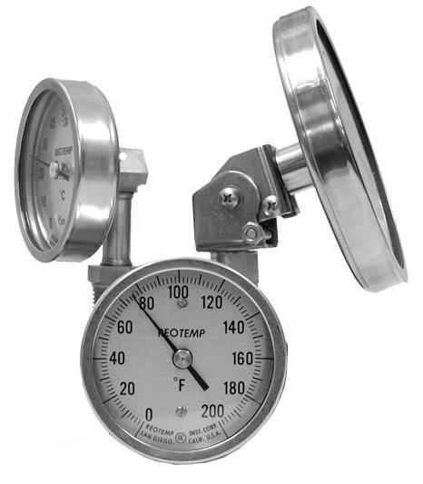 REOTEMP工业双金属温度计