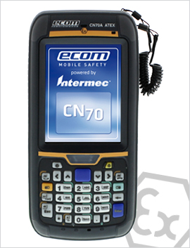 CN70型号 强固式防爆windows mobile 6.5系统防爆手持终端,PDA,2区